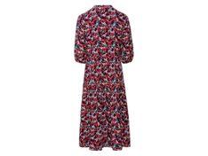ESMARA® Sukienka damska, 1 sztuka (46, Wzór/czarny)
