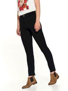Jeansowe spodnie damskie z prostą nogawką