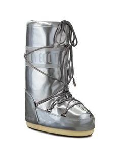 Moon Boot Śniegowce Vinile Met. 14021400004 Srebrny