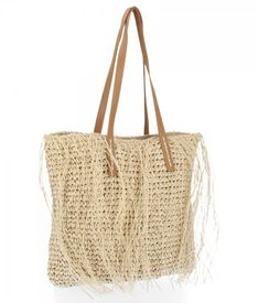 Ratanowa Torebka Damska Shopper Bag firmy David Jones Beżowa (kolory)