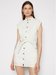 IXIAH Sukienka jeansowa IX22-25052 Biały Regular Fit
