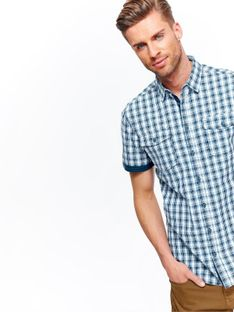 Koszula męska w kratkę o kroju regular
