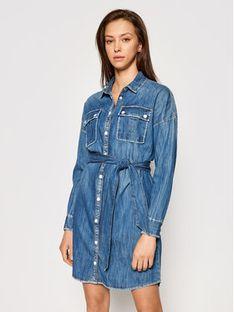 Guess Sukienka jeansowa Salaya W1RK0 PD14LN Niebieski Relaxed Fit