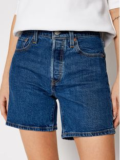 Levi's® Szorty jeansowe 501™ Mid Thigh 85833-0007 Granatowy Regular Fit