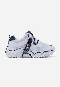 Sneakersy biało czarne Lydie