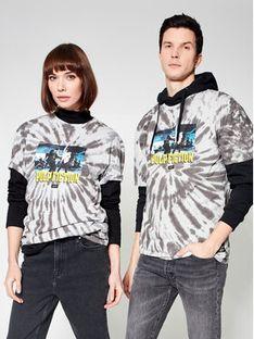 HUF T-Shirt Unisex PULP FICTION Dance Scene Tie Dye TS01310 Szary Regular Fit