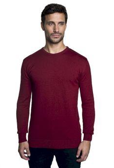 Sweter bawełniany bordowy Recman DARTON PM