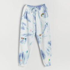 Reserved - Joggery tie-dye z bawełny organicznej - Wielobarwny