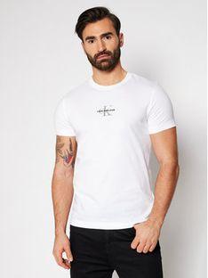 Calvin Klein Jeans T-Shirt J30J317092 Biały Slim Fit