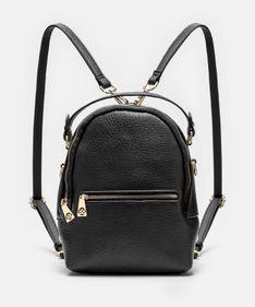 Czarny plecak damski 2w1