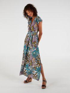 Kolorowa sukienka maxi w botaniczny wzór Expresso 201DANA