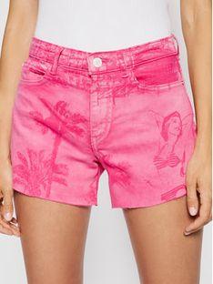 Guess Szorty jeansowe W1GD18 D2G6M Różowy Regular Fit