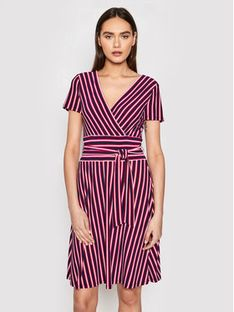 Lauren Ralph Lauren Sukienka koktajlowa 250831123001 Granatowy Slim Fit