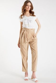Spodnie o kroju paper bag