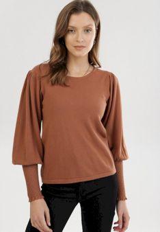 Ciemnobeżowy Sweter Amphiomise