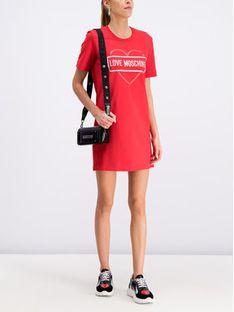 LOVE MOSCHINO Sukienka codzienna W5A0206E 2017 Czerwony Regular Fit
