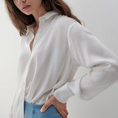 Reserved - Koszula z wiskozy - Kremowy