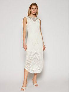 TwinSet Sukienka letnia 211TT3102 Beżowy Slim Fit