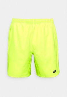 4F - Krótkie spodenki sportowe - żółty neon