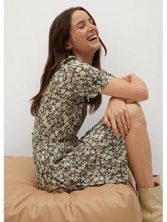Mango Sukienka codzienna Pamela 87045657 Zielony Regular Fit