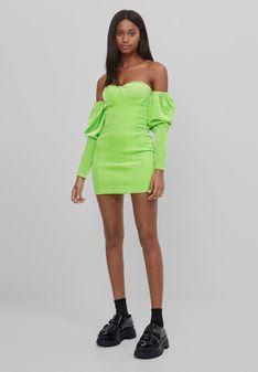 Bershka - Sukienka letnia - zielony