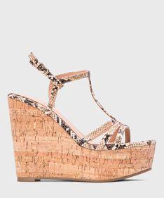 Multikolorowe sandały damskie