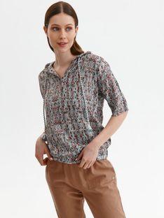 Bluza damska z kapturem i krótkim rękawem