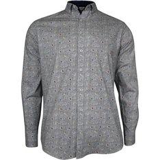 Koszula męska Rigon w abstrakcyjne wzory