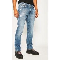 Granatowe jeansy męskie Guess casualowe