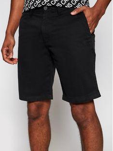 Calvin Klein Jeans Szorty materiałowe J30J319061 Czarny Slim Fit