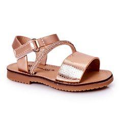 FR1 Dziecięce Sandały Z Cekinami Różowe Złoto Blake złoty