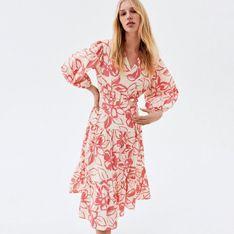 Reserved - Wzorzysta sukienka - Różowy