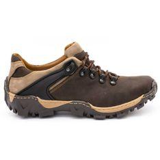 KENT Męskie buty trekkingowe 116 ciemny brąz brązowe