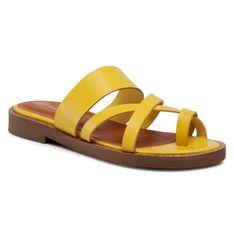 Japonki SOLO FEMME - 62803-01-D10/000-06-00 Żółty