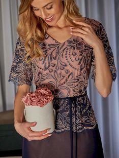 Zwiewna sukienka z koronkową górą Potis & Verso JOVITA