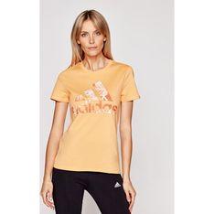 Bluzka damska Adidas z okrągłym dekoltem sportowa z krótkim rękawem