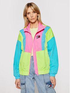 Tommy Jeans Kurtka przejściowa Colorblock Zip Through DW0DW09828 Zielony Regular Fit