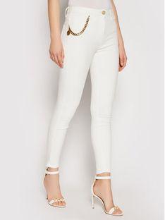 Elisabetta Franchi Jeansy PJ-03S-11E2-V270 Biały Slim Fit