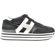 Buty sportowe damskie Hogan sneakersy bez zapięcia skórzane