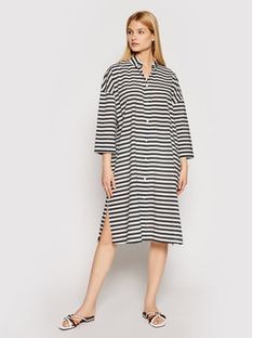 Max Mara Beachwear Sukienka plażowa Bibo 32210318 Czarny Regular Fit