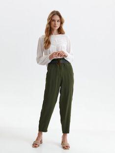 Spodnie tkaninowe z paskiem