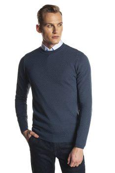 Niebieski sweter pullover Recman MOLD