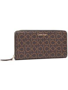 Calvin Klein Duży Portfel Damski Z/A Wallet Lg K60K607451 Brązowy