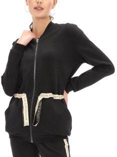 Rozpinana bluza ze ściągaczem w talii Eye For Fashion MAREN