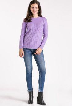 Sweter z drobnym splotem