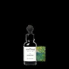 Schnący, nierafinowany, tłoczony na zimno olej z nasion konopii, olej KONOPNY 30ml