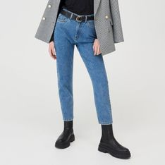 Sinsay - Mom jeans ECO AWARE - Niebieski