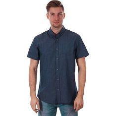 Koszula męska Just yuppi z tkaniny z krótkim rękawem