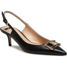 Sandały damskie Elisabetta Franchi skórzane na obcasie