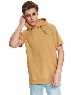 Cienka bluza z kapturem i krótkim rękawkiem